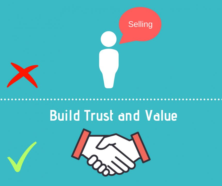 Build trust and value - sales funnel example