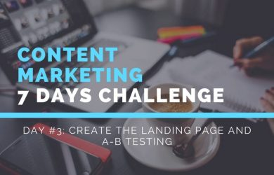 Create the landing page and A-B testing
