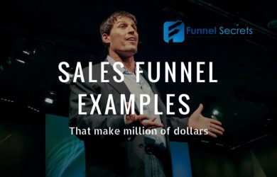 sales funnels example that make milion of dollars