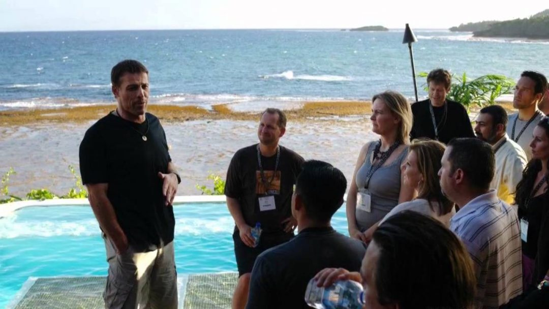 tony robbins on Fiji - Sales funnel example