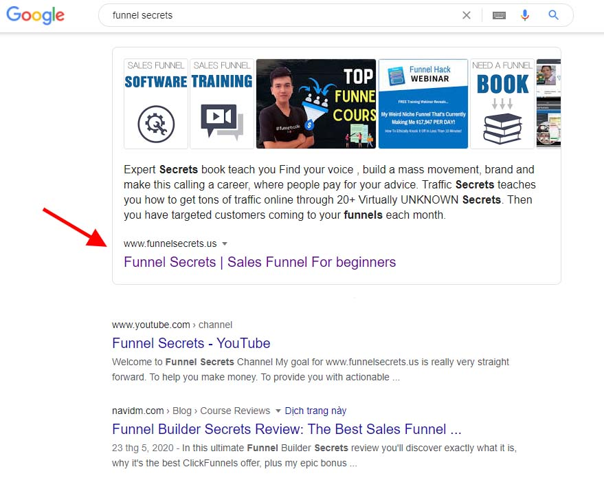 Funnel Secrets research google