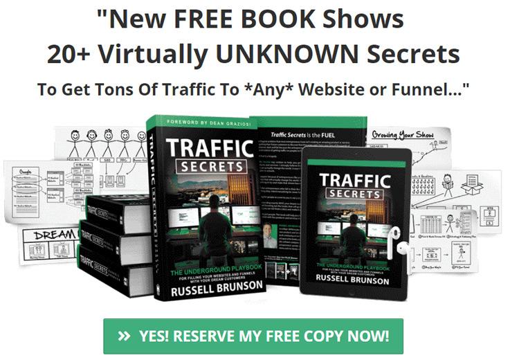 IG secrets book funnel: Traffic Secrets