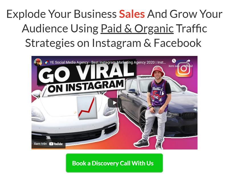 Instagram mastery secrets ebook sales page