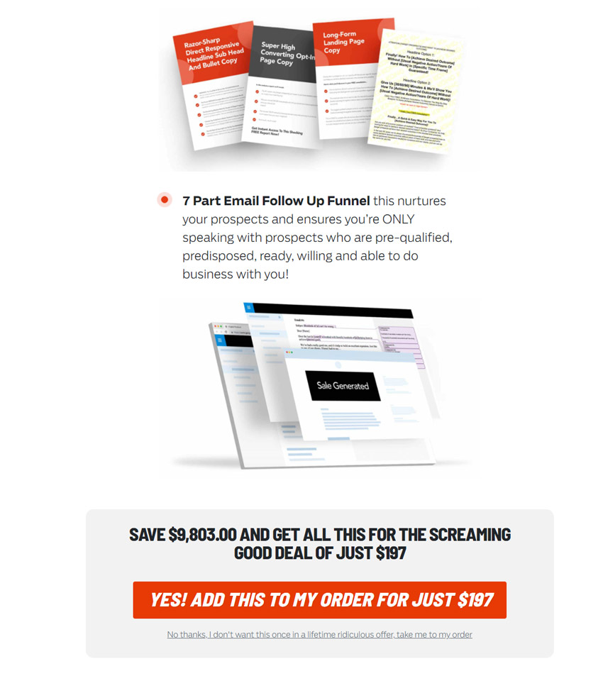 Sell Like Crazy book upsell 1