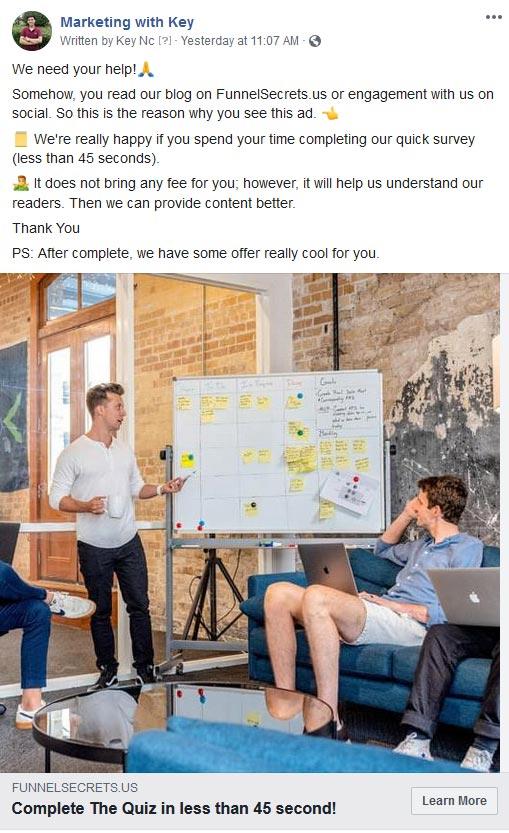 promote-survey-funnel-on-facebook-ads