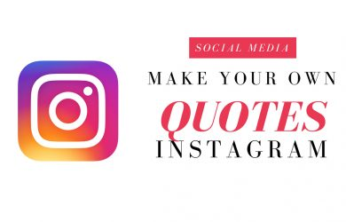 How to make your own quotes with your own pictures on Instagram
