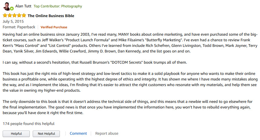 dotcom secrets review on amazon