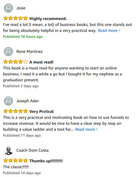 dotcomsecrets customer amazon review - Russell Brunson net worth