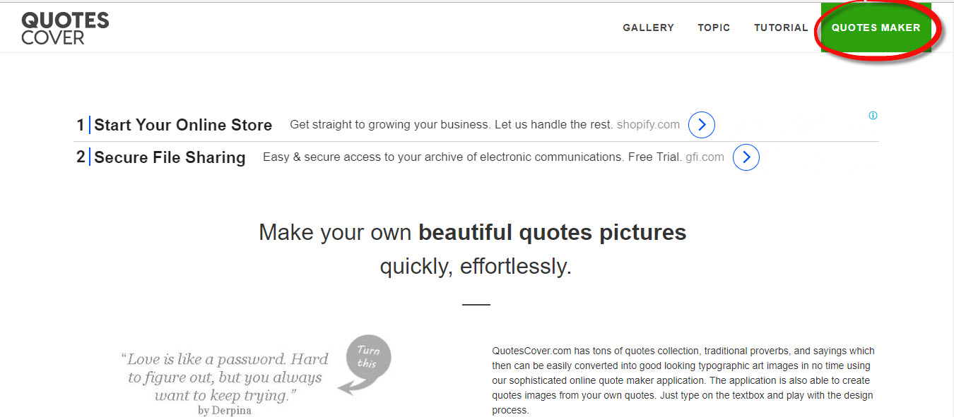 quotes cover - create quote online free