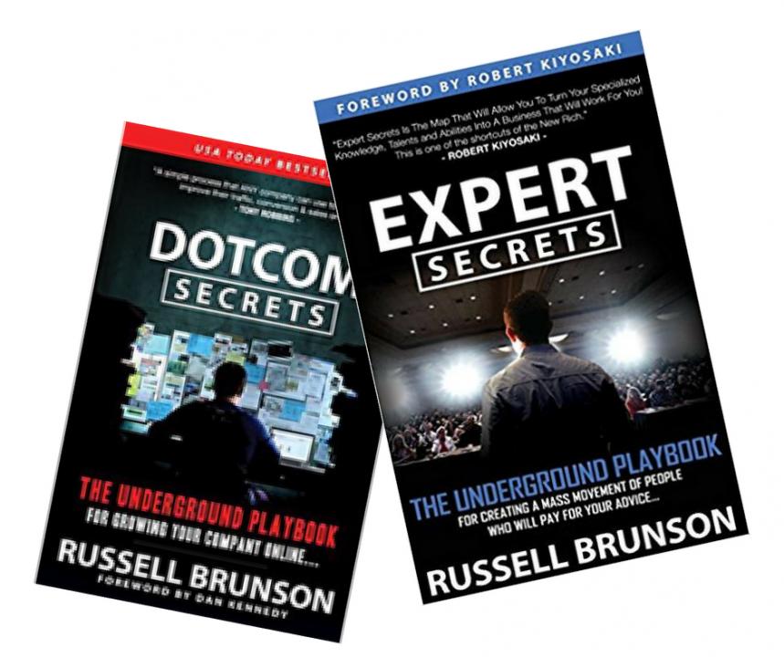Dotcom secrets and Expert Secrets book - Russell Brunson
