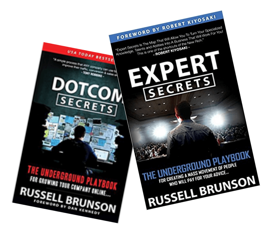 Dotcom secrets and Expert Secrets book - Russell Brunson