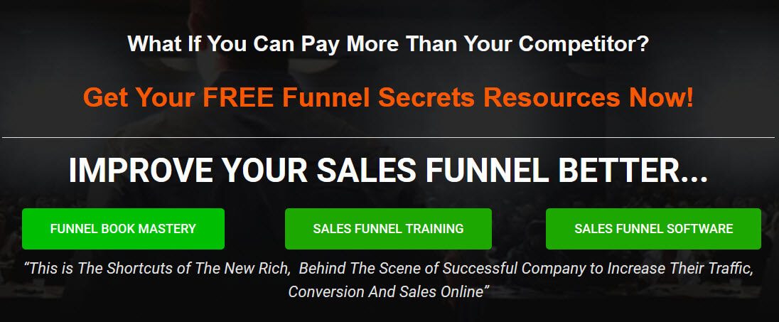 Funnel catcher - homepage funnel