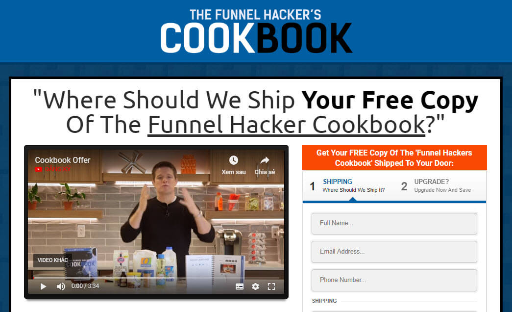 Funnel hacker cookbook landing page design