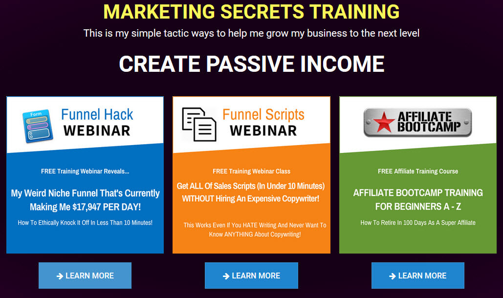 marketing funnel training - funnel secrets