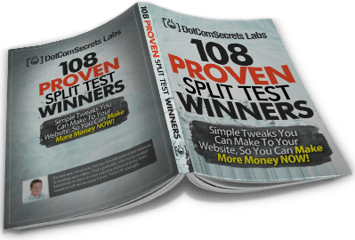 108 split test winners - russell brunson books