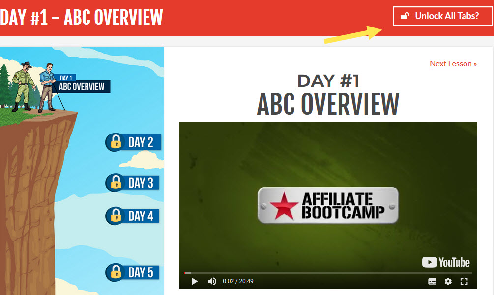 Affiliate Bootcamp member area