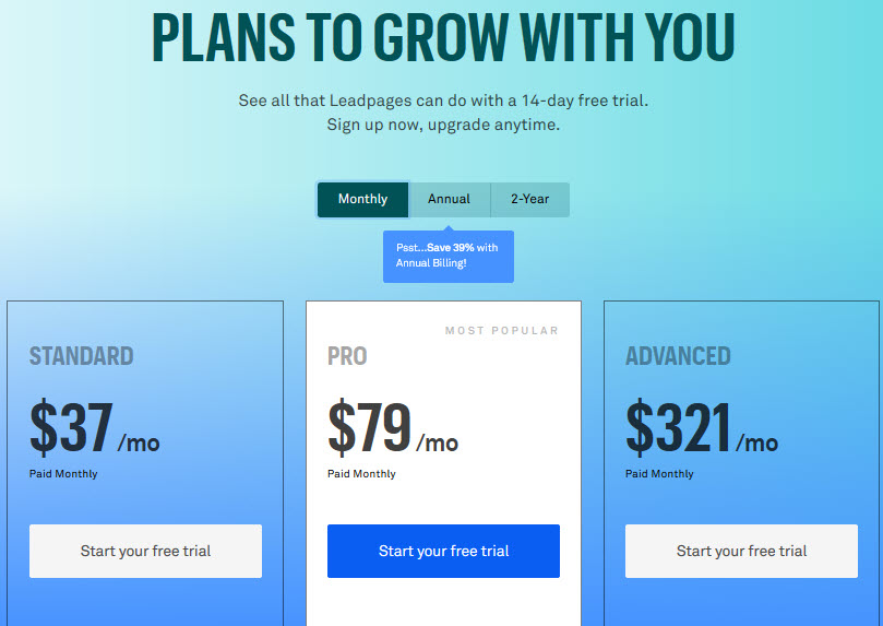 leadpages price - funnel secrets