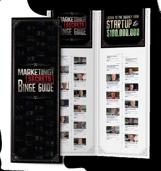 marketing secrets binge guide - marketing secrets blackbook