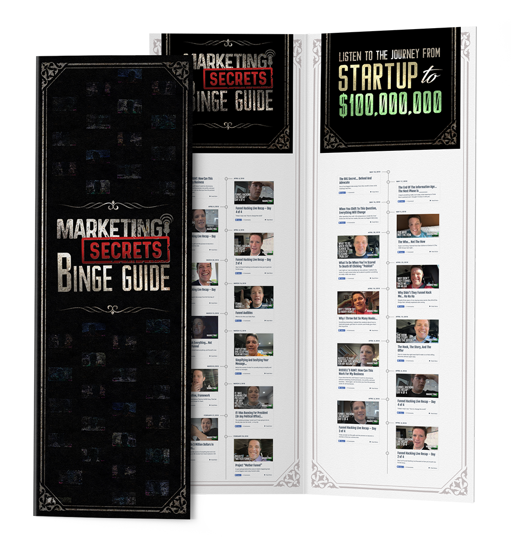 marketing secrets binge guide - marketing secrets blackbook