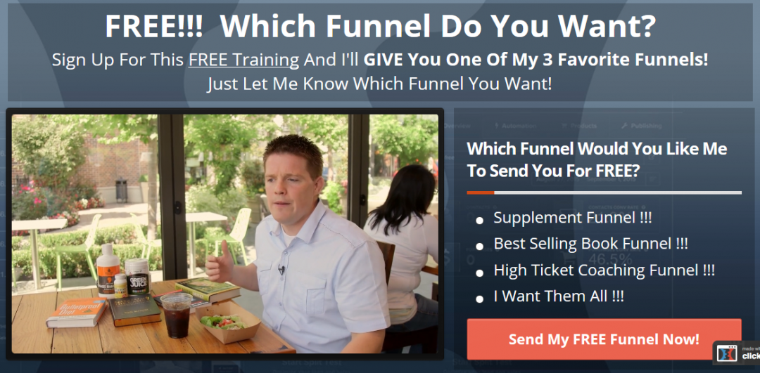 Optimize sales funnel - Funnel give away