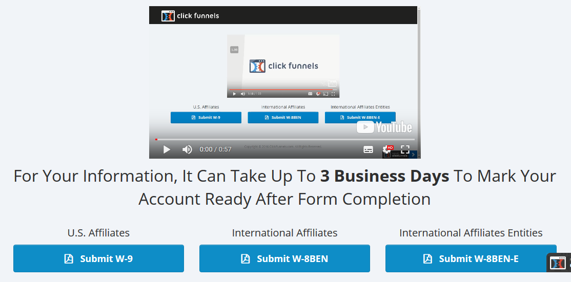 Clickfunnels affiliate tax form