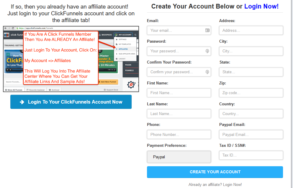 Clickfunnels member area login