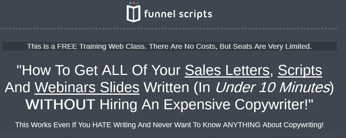 Funnel scripts webinar demo