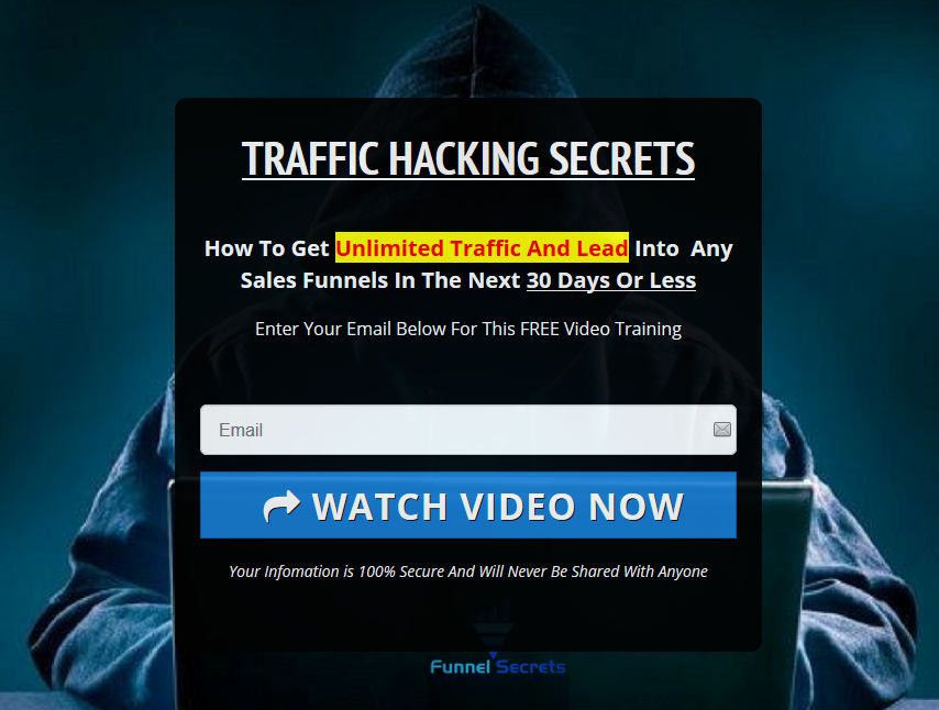 Funnel secrets - traffic secrets - squeeze page opt-in only