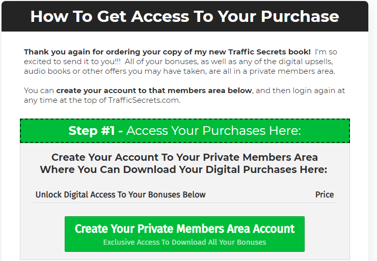 The Secrets Trilogy member signup page