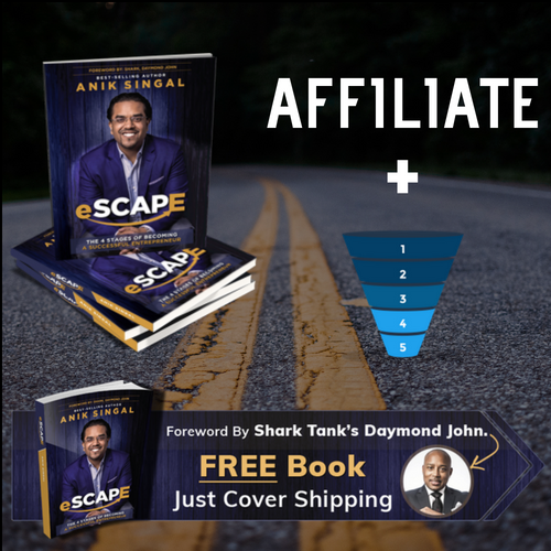 Case Study Selling The Escape book with affiliate marketing sales funnel
