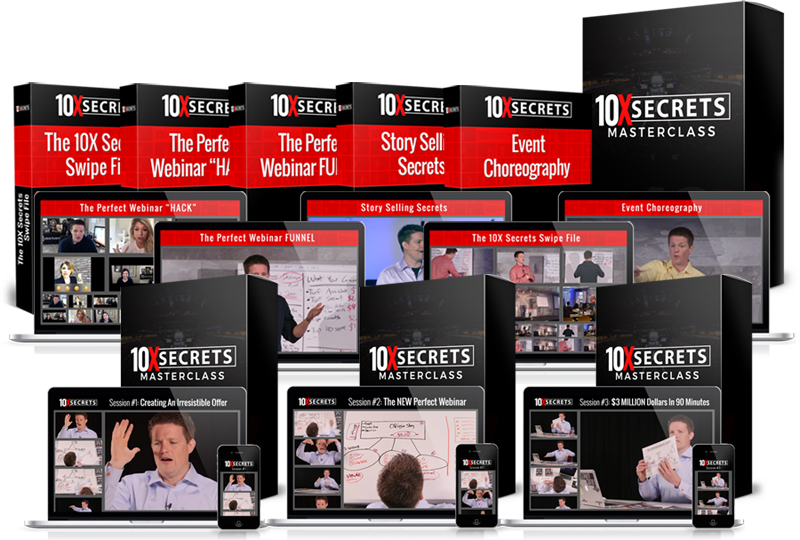 everything you get in 10X secrets masterclass Russell Brunson