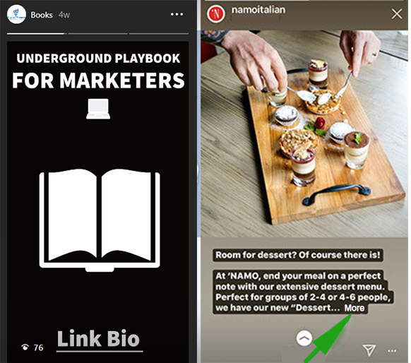 Instagram ads stories example limit the length
