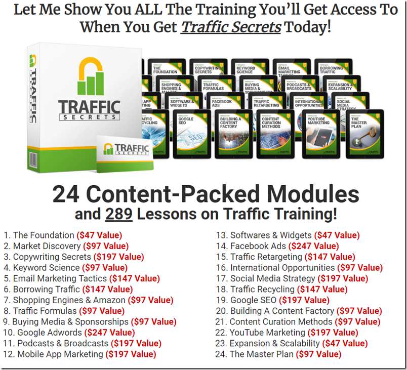 the value of traffic secrets course russell brunson
