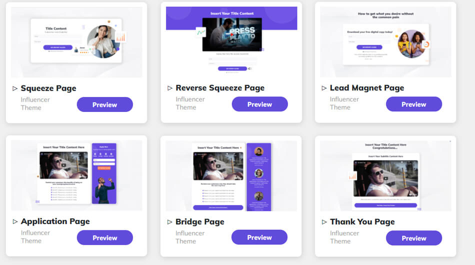Builderall funnel theme