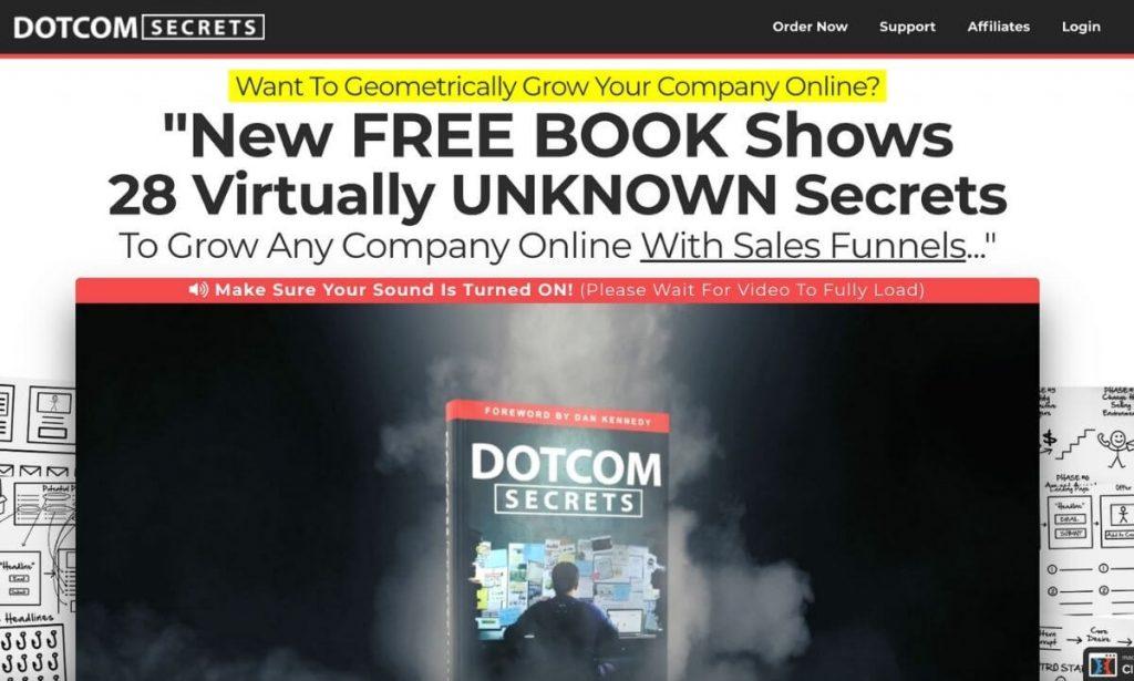 Dotcom Secrets sales page