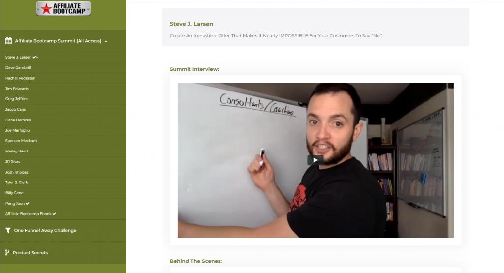 affiliate bootcamp login member area