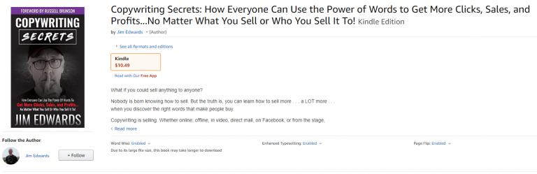 copywriting secrets book amazon kindle price