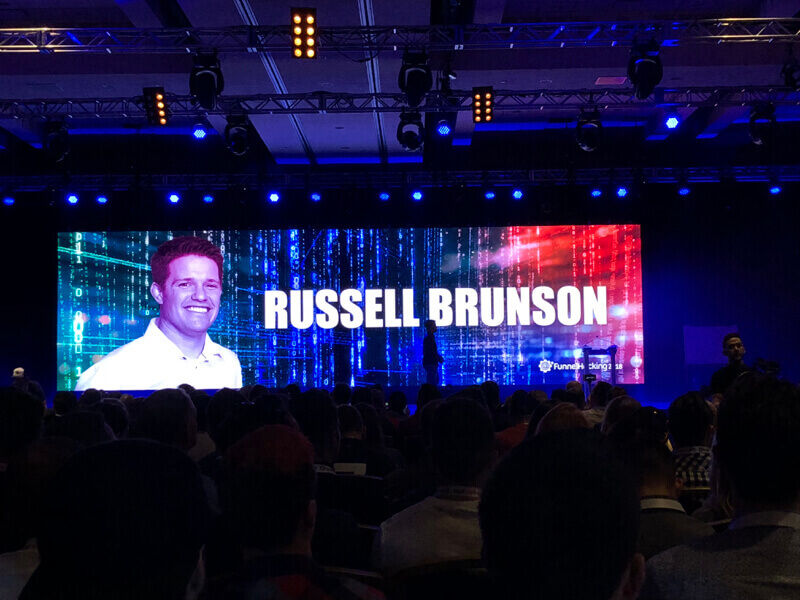 Russell Brunson on the stage