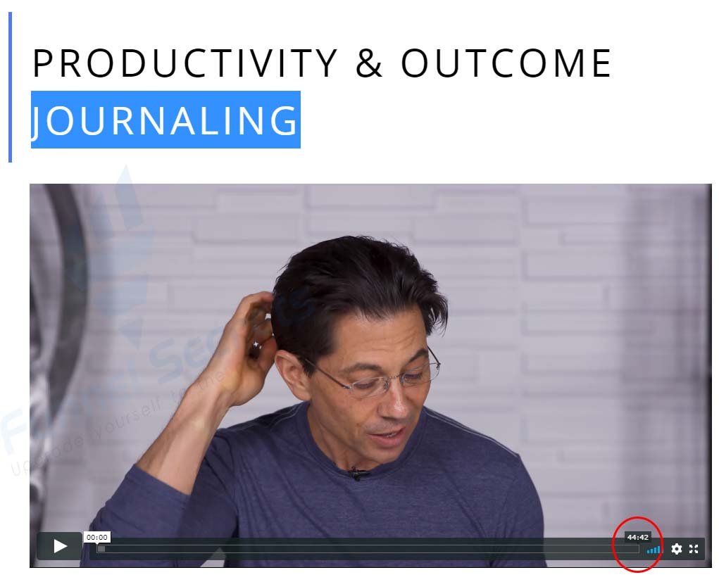 Productivity & Outcome Journaling