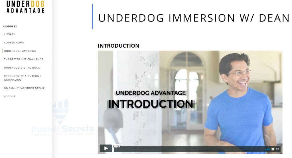underdog advantage immersion with Dean