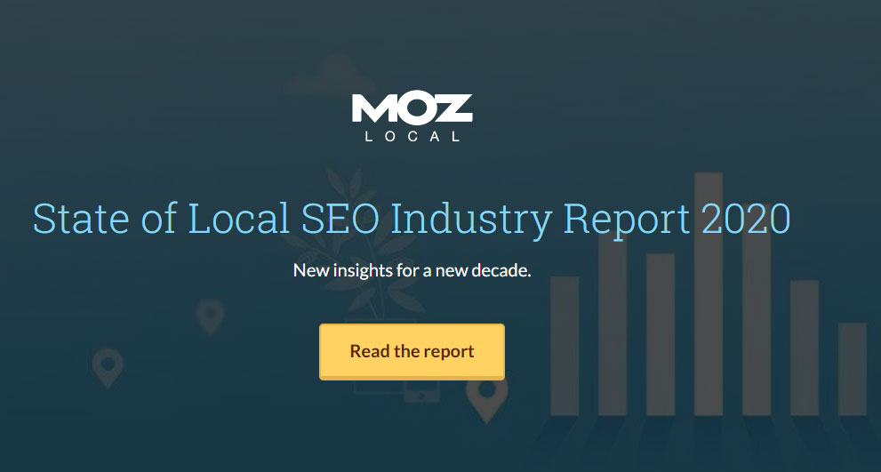lead magnet ideas free report: state of local SEO industry report 2020