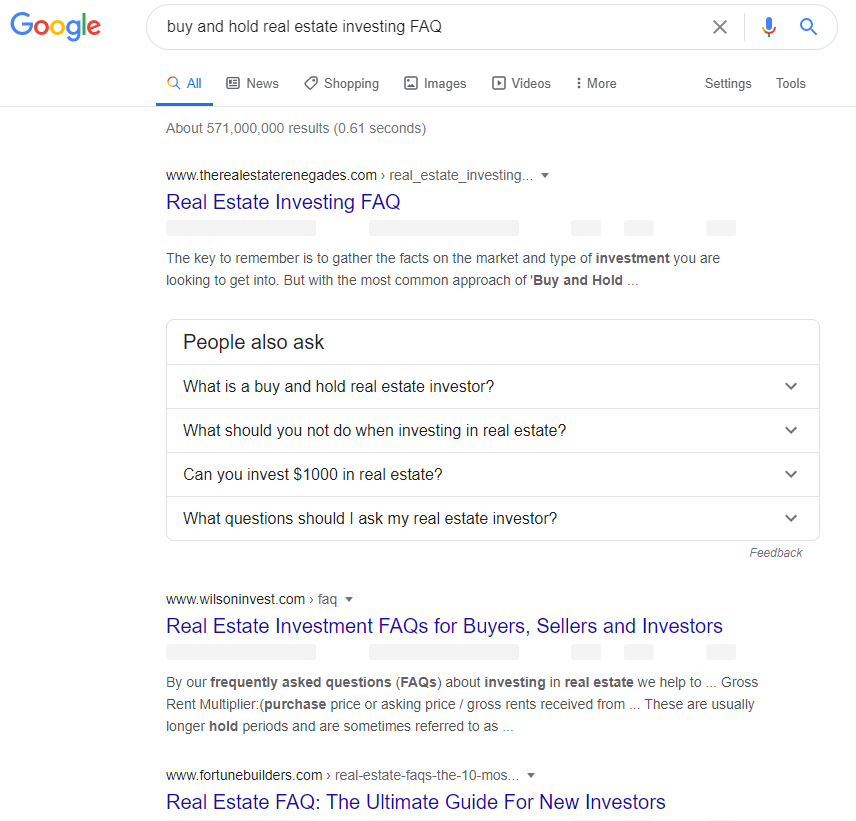 lead magnet for real estate google search question