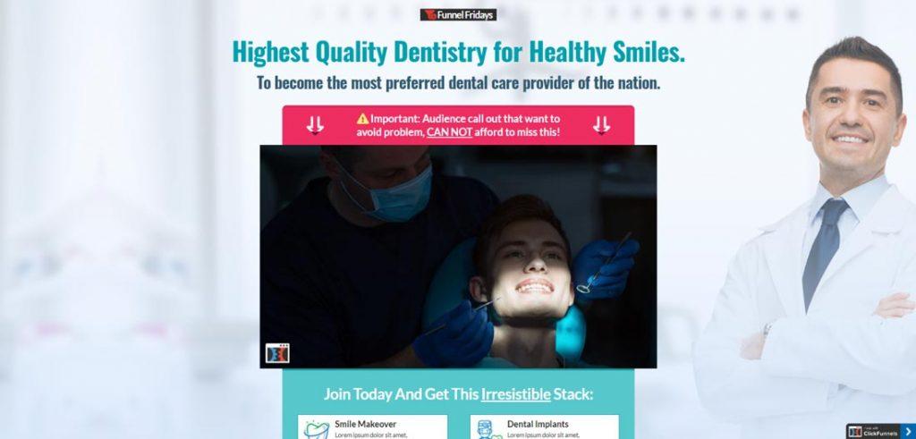 Clickfunnels-dentist-funnel-template