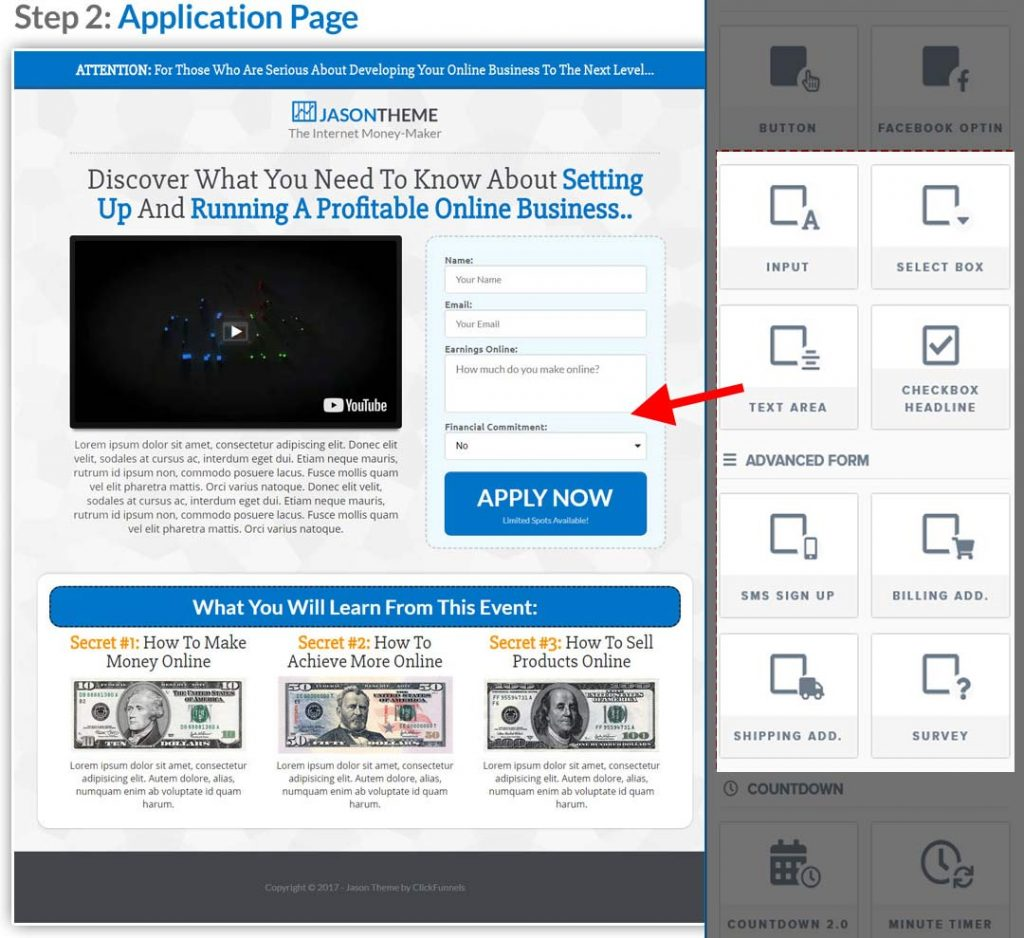 how-to-create-Application-form-inside-clickfunnels