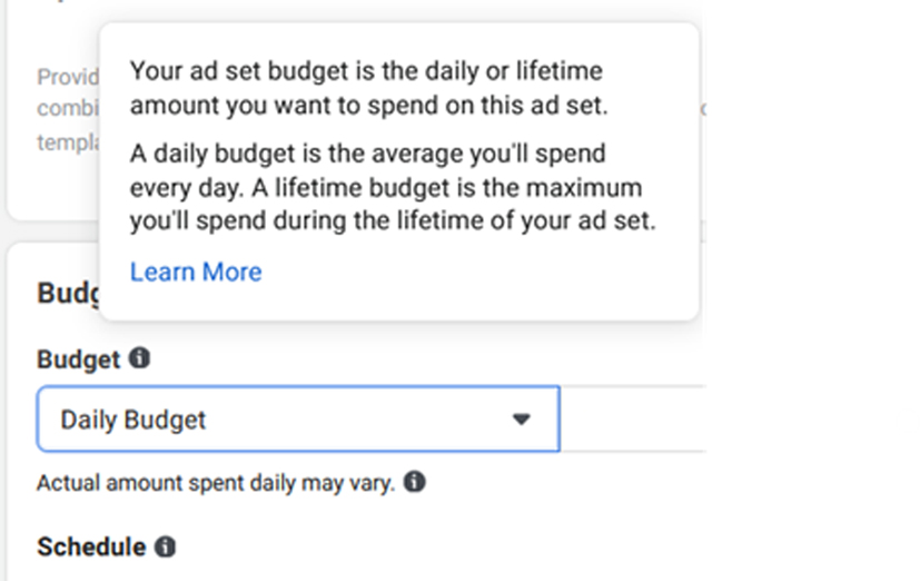 Facebook-ad-set-budget