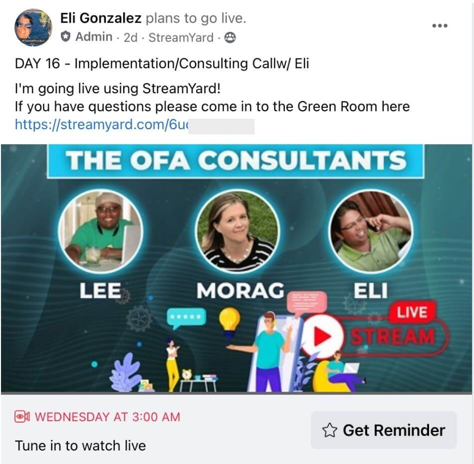 OFA implementation consulting call