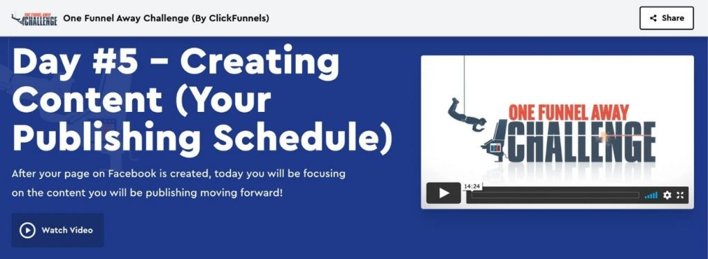 One Funnel Away challenge onepager
