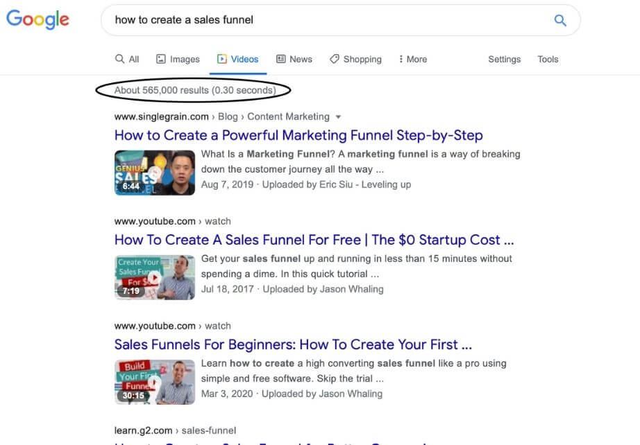 research how to create a sales funnel video