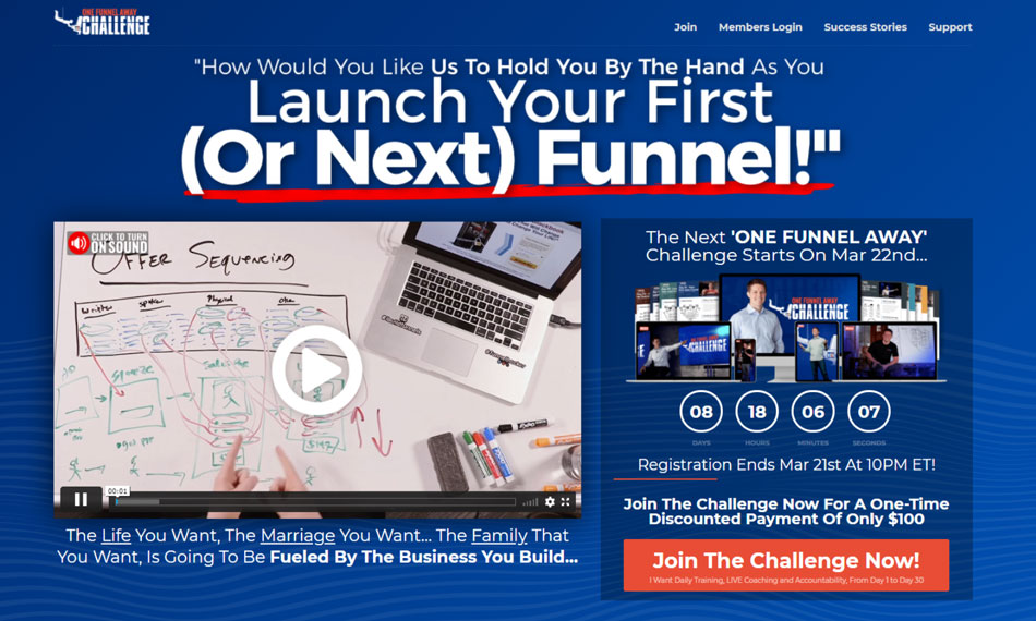 Clickfunnels training course:-one funnel away challenge