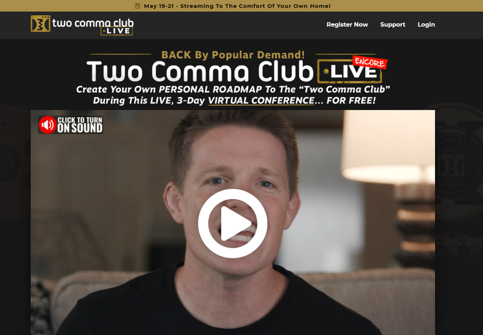 Clickfunnels training course: two comma club live